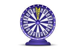 时运在白色背景隔绝的轮子3d对象 运气轮子  网上赌博娱乐场横幅 赌博的概念 皇族释放例证