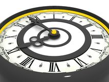 时钟。 九时 免版税图库摄影