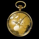 时钟世界 库存照片