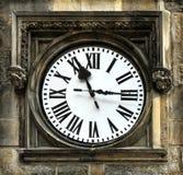 时钟中世纪布拉格 库存照片