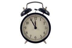 时钟五午夜新对年 库存图片
