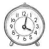 时钟传染媒介剪影  库存图片