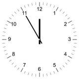 时钟例证11:00 免版税图库摄影