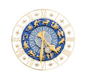 时钟保险开关中世纪符号黄道带 免版税库存照片