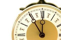 时钟关闭塑造了老  免版税库存照片
