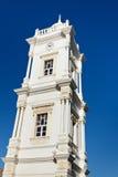时钟利比亚无背长椅塔的黎波里 免版税库存照片