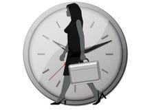 时钟办公室妇女 库存图片