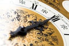 时钟午夜时间 库存图片