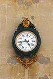 时钟华丽威尼斯墙壁 库存图片