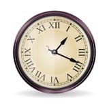 时钟向量葡萄酒墙壁 图库摄影