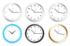 时钟向量 免版税库存照片