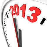 时钟和2013年 库存照片