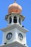 时钟回教样式塔 免版税库存图片