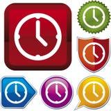 时钟图标系列向量 免版税图库摄影