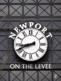 时钟在纽波特 免版税图库摄影