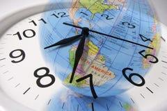 时钟地球 库存照片