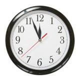 时钟塑料 免版税库存照片
