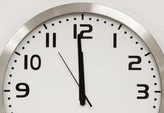 时钟墙壁 免版税库存照片