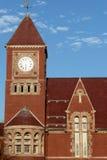 时钟大厅塔城镇 库存照片