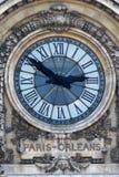 时钟奥尔良巴黎 免版税库存照片