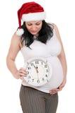时钟孕妇 免版税库存图片