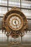 时钟巴黎 库存照片