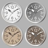 时钟平的象 世界时间概念 库存照片