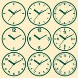 时钟平的象 世界时间概念 免版税库存照片