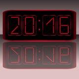 时钟数字式数字装载获得leds对多余 数字式Uhr Nummer 免版税库存图片