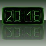 时钟数字式数字装载获得leds对多余 数字式Uhr Nummer 免版税库存照片