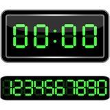 时钟数字式数字装载获得leds对多余 数字式Uhr Nummer 图库摄影