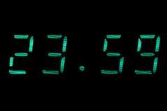 时钟数字式绿色 免版税库存照片