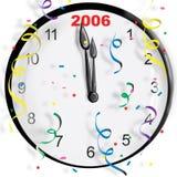 时钟新年度 向量例证