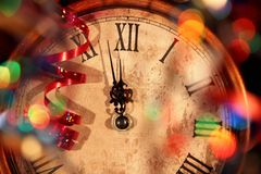 时钟新年度 免版税库存图片