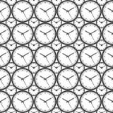 时钟无缝的样式背景-传染媒介例证 免版税库存照片