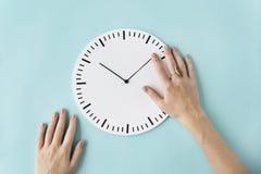 时钟时间第二详细的小时准时圈子概念 库存图片