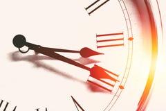时钟时间罗马小时数字葡萄酒颜色口气 库存图片