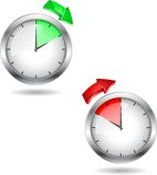 时钟时间 免版税库存照片
