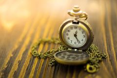 时钟显示当前时间 时间的图象用途从未等待 免版税图库摄影