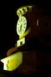 时钟晚上塔 图库摄影