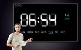 时钟期间时间休闲小时概念 免版税库存照片