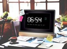 时钟期间时间休闲小时概念 免版税图库摄影
