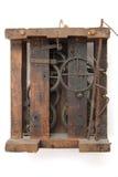 时钟机械工葡萄酒 免版税库存图片