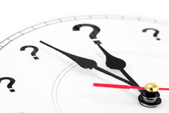 时钟标记问题 免版税库存图片