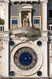 时钟标记s方形st塔威尼斯 库存图片