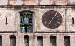 时钟格式老原始的塔 免版税库存图片