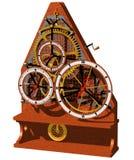 时钟概念壁炉台 库存照片