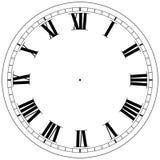时钟模板 图库摄影