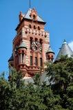 时钟法院大楼得克萨斯塔waxahachie 免版税库存图片