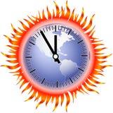 时钟火焰地球 向量例证